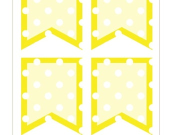 BF014- Polka Dot Flags- Yellow