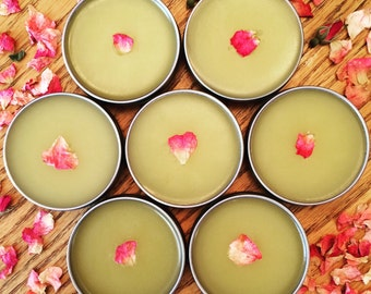 Rose Salve - Prairie Rose Salve - Rose Balm - Herbal Salve - Wild Rose Salve - All Purpose Salve