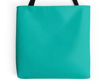 Turquoise Tote Bag, Turquoise Bag, Turquoise Purse, Blue Green Bag, Turquoise Bookbag