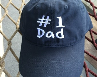 Number 1 Dad - Navy w/White Lettering