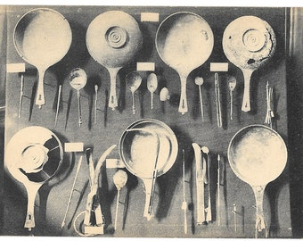 Nimes, France, Musee de la Maison Carree,  French Tradition Kitchen Objects, Vintage 1920 Unused Postcard