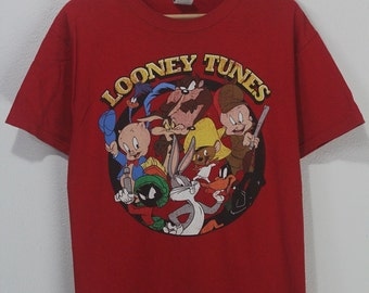 Vintage 90s Looney Tunes family warner bros funny classic cartoons tee shirt