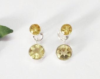 Attractive NATURAL CITRINE Gemstone Earrings, Birthstone Earrings, 925 Sterling Silver Earrings, Fashion Handmade Earrings, Drop Earrings