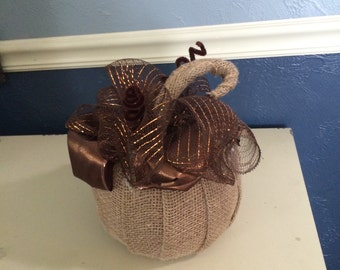 Burlap & Brown Fall Pumpkin