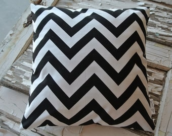 New Price!*** Pillow- Black White Chevron