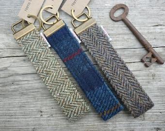 Harris Tweed Key Fob, Keyring, Tartan Scottish Gift, Plaid key fob, Gifts for Men, key ring, Outlander, Hotel keyfob, North Coast 500
