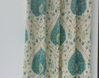 Richloom Aubusson Blend Aegean Designer Drapes and Valances. (SOLD IN PAIRS)