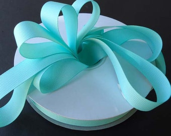 "5 yards 1.5"" Aqua Grosgrain Ribbon - Aqua Grosgrain Ribbon 5 yards - Aqua Ribbon - 1 1/2"" Aqua Grosgrain Ribbon"