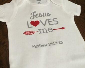 Jesus loves me onesie