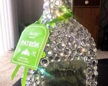Bejewled Patrón Bottle!