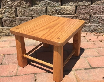 Oak Step Stool- Handmade