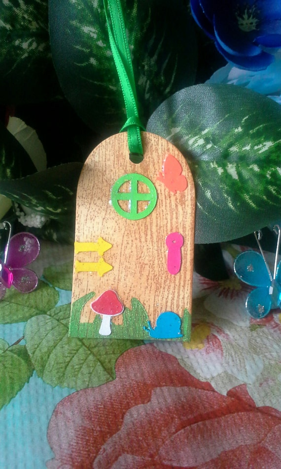 Fairy door gift tag fairy garden door gift tag for Fairy door gift set