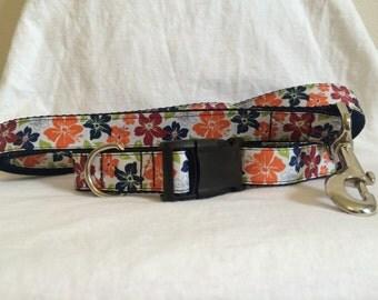 Hibiscus Collar & Leash