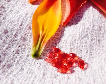 "Swarovski Teardrop Apricot Crystal Bead ""Group of 2"""
