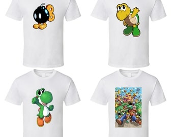 Super Mario Bros. - Choose a Character or Power-up - Cute White T-Shirt