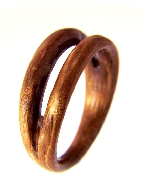 Hand Carved Bentwood Ring Carved Wood Ring Wood Jewelry