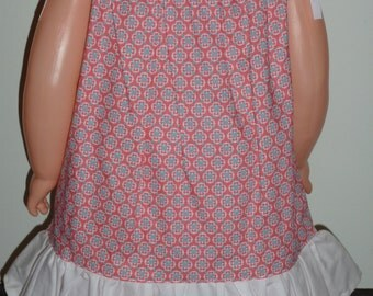 Pink Print Dress w/Panties