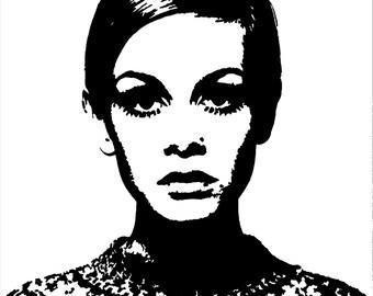 Twiggy Pop Art print *** downloadable ***