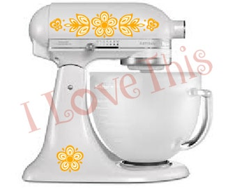 Pyrex Butterfly Gold vinyl decals - Perfect for your mixer