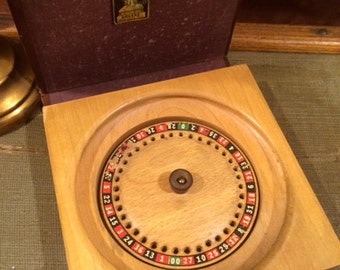 Vintage Travel Roulette Wheel
