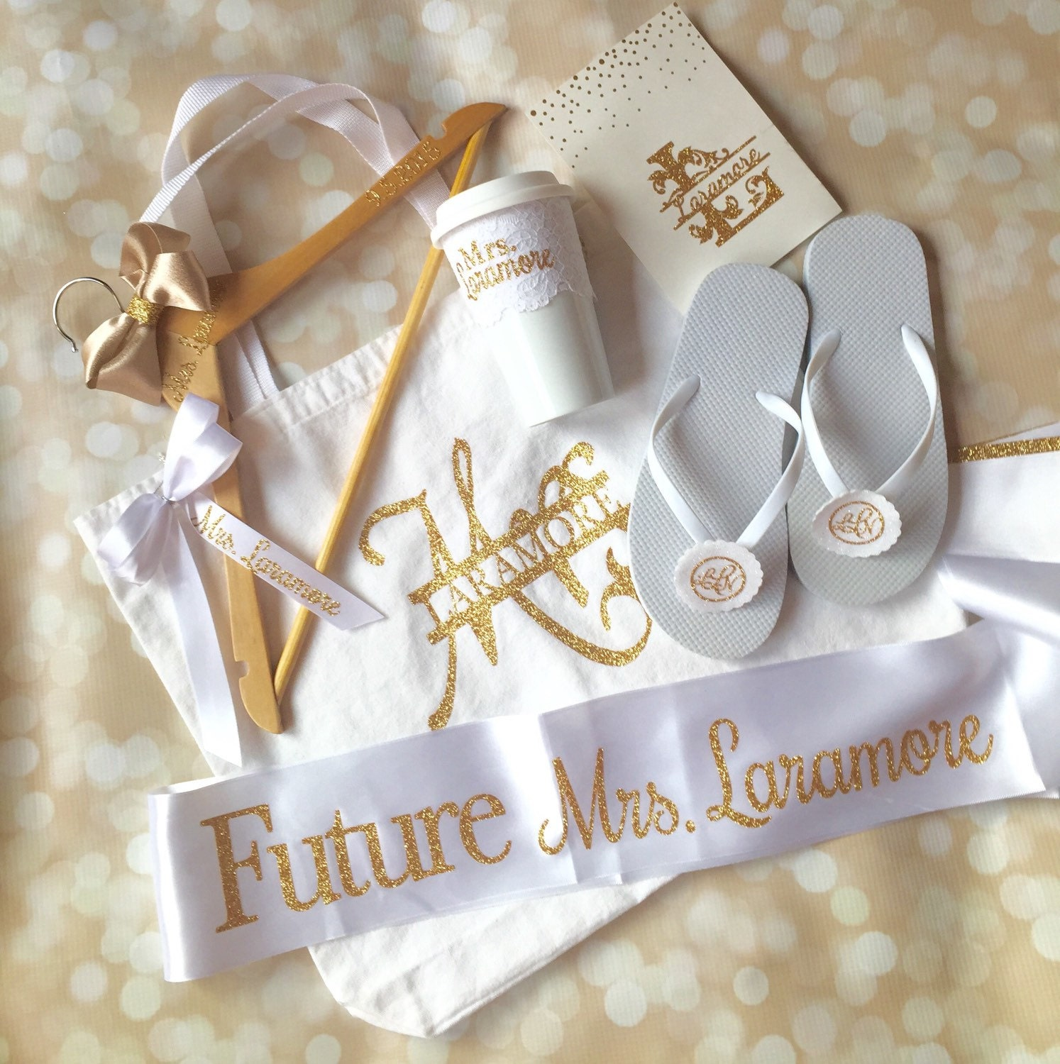 Gift For Bride Bridal Shower Gift Set Full Personalized