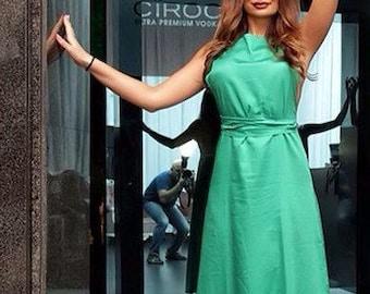 Dreen dress/dress/cotton dress/long dress/backless dress/party dress