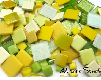 Mosaic Treasure Pots x 130pc - Lemon Lime Sorbet