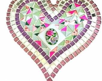 Mosaic Shabby Chic Heart - Kit-Set