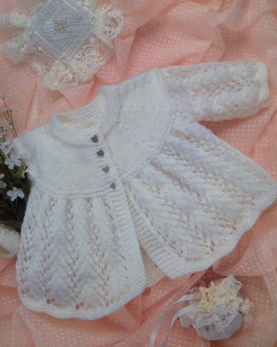 Knitting Pattern Cardigan 8 Ply : Knitting Pattern Babies DK/Light /8 Ply Matinee Jacket /Coat