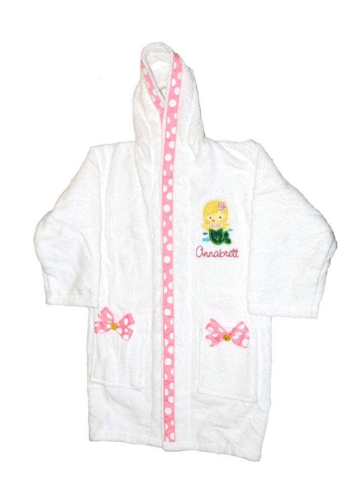 little mermaid robe girls bathrobe swimsuit cover up custom