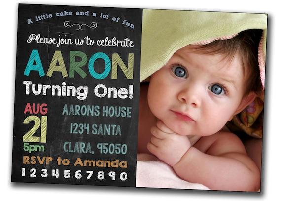 First Birthday Invitations Boy wblqualcom