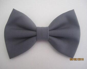 Charcoal grey bow tie, Men grey bow tie, Boy's geay bow tie, Adjuster slide bow tie. grey wedding bow tie, Gray cotton bow tie for men