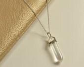 Clear Quartz Necklace | Semi Precious Crystal Jewellery | Double Terminated Pendant
