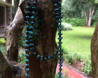 18 inch turquoise nugget necklace
