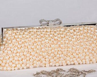 Pearl Clutch Bag, Evening Clutch, Bridal Clutch Bag, Custom Wedding Accessories c60