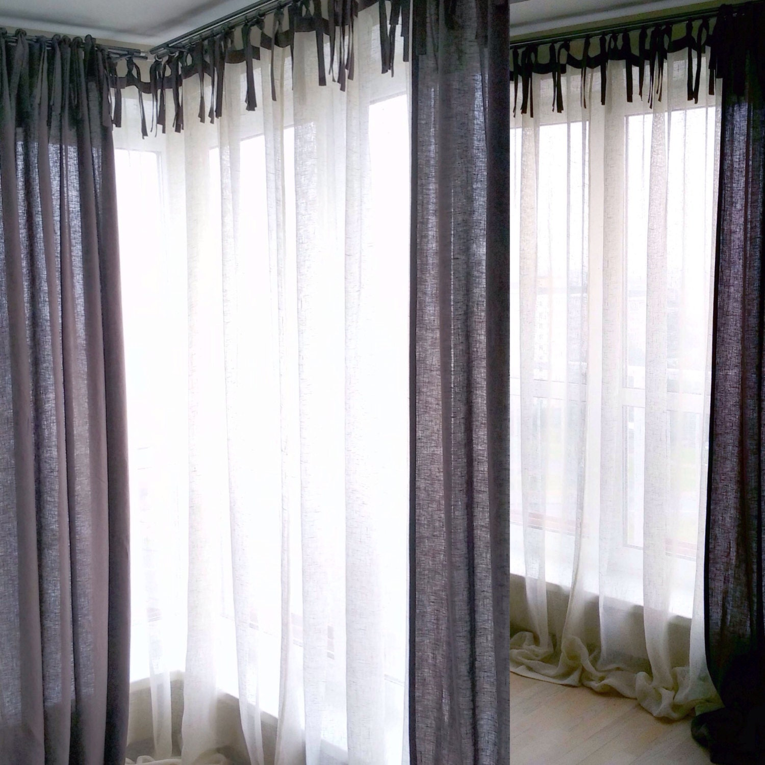 Linen Curtains Linen Drapes Custom Color