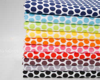 Honeycomb Dot from Honeycomb Dot Reversed by Riley Blake Designs Fat Quarter Bundle - 10 Pcs