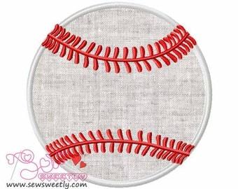 Baseball Applique Design.