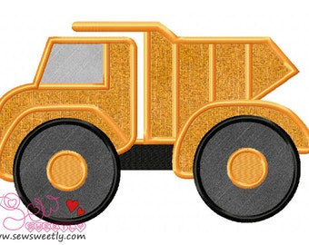 Dump Truck Applique Design.