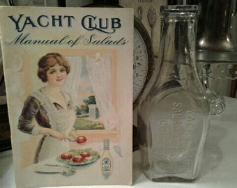 Antique Yacht Club Salad Dressing Cookbook and Bottle