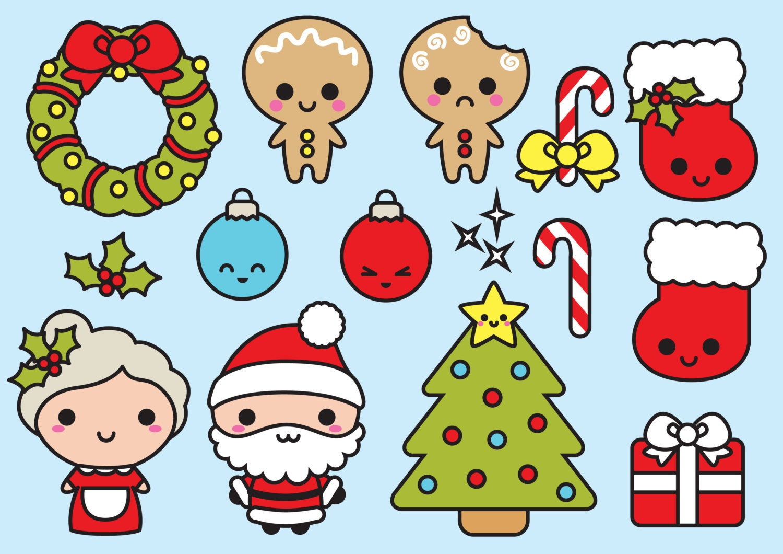 Premium Vector Clipart Kawaii Christmas Cute Chrismas