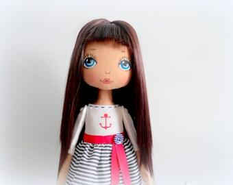 Fabric doll. Interior Dolls. handmade doll, art doll, girl gift,nursery decoration, cloth doll.