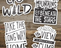 inspirational adventure sticker vinyl sticker decal