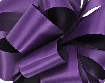 "New Single Faced Regency Satin Ribbon 1/4"" wide. Purple Satin Ribbon"