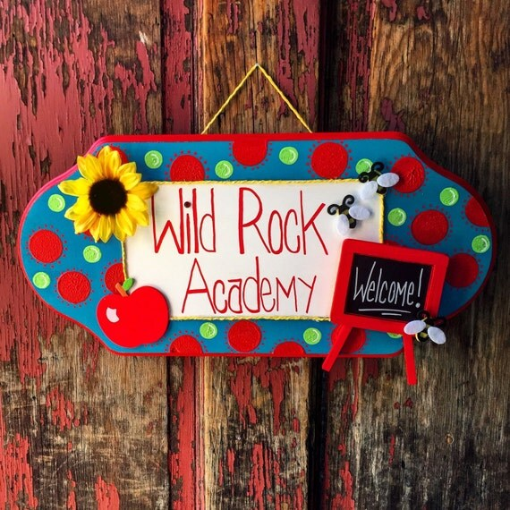 Classroom Decor Etsy ~ Items similar to personalized hand painted classroom sign