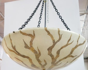 Vintage Maitland Smith Fiberglass Bowl Chandelier