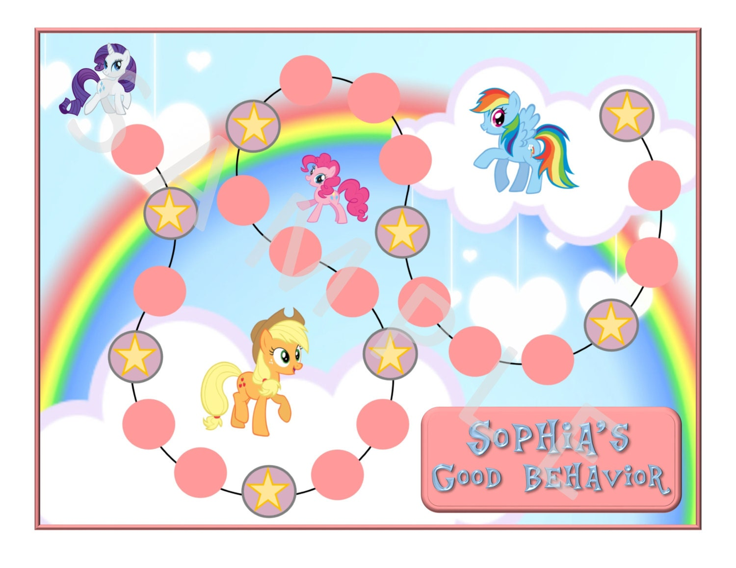 Personalized My Little Pony Behavior Chart by DunnWithThree