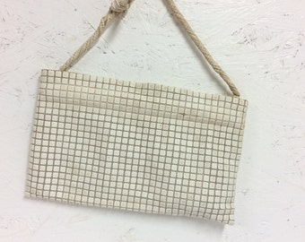 "White Baron von Fluffenstein's Nibbles Purse, Vintage Purse, In Good Condition including chain cool vintage dress up item 10x6"" 7.7oz  #1887"