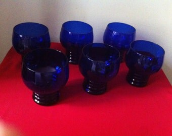 Cobalt Blue Drinking Glasses