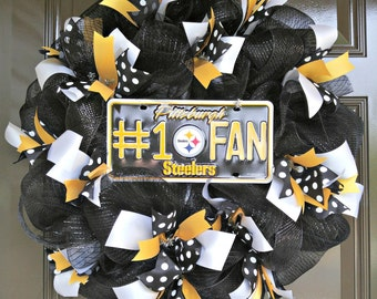 Pittsburgh Steelers Wreath; Steelers; NFL